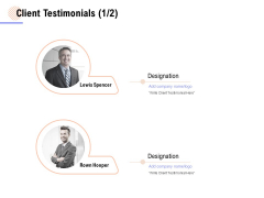Client Testimonials Business Ppt PowerPoint Presentation Outline Files