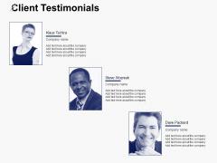 Client Testimonials Communication Ppt PowerPoint Presentation Ideas Slide Portrait