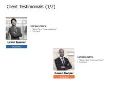 Client Testimonials Communication Ppt Powerpoint Presentation Portfolio Sample