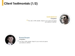Client Testimonials Communication Ppt PowerPoint Presentation Sample