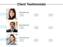 Client Testimonials Communication Ppt PowerPoint Presentation Slides Example