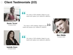Client Testimonials Communication Ppt PowerPoint Presentation Slides Tips