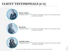 Client Testimonials Communication Ppt PowerPoint Presentation Styles Background Images