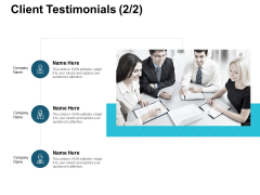 Client Testimonials Communication Ppt PowerPoint Presentation Visual Aids Backgrounds