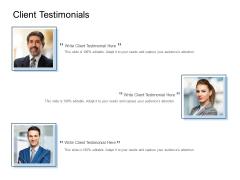 Client Testimonials Communications Ppt PowerPoint Presentation Slides Objects