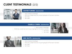 Client Testimonials Designation Ppt PowerPoint Presentation Diagram Lists