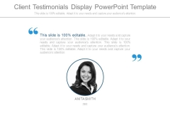 Client Testimonials Display Powerpoint Template