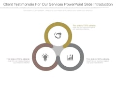 Client Testimonials For Our Services Powerpoint Slide Introduction