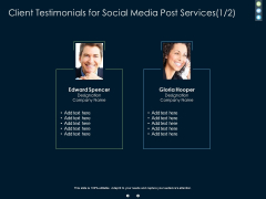 Client Testimonials For Social Media Post Proposal Ppt PowerPoint Presentation Inspiration Example Topics