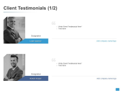 Client Testimonials Introduction Ppt PowerPoint Presentation Professional Elements