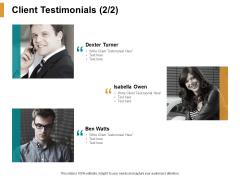 Client Testimonials Introduction Ppt PowerPoint Presentation Slides Microsoft