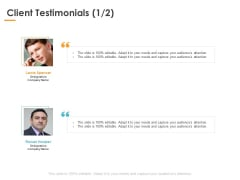 Client Testimonials Manageement Ppt PowerPoint Presentation Professional Examples