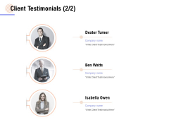 Client Testimonials Management Ppt PowerPoint Presentation Inspiration Layouts