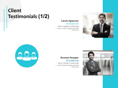 Client Testimonials Management Team Ppt PowerPoint Presentation Model Influencers