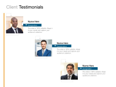 Client Testimonials Our Team Ppt PowerPoint Presentation Outline Images