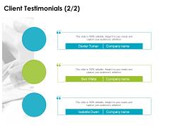 client testimonials planning ppt powerpoint presentation gallery slide download