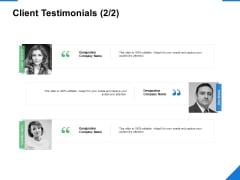 Client Testimonials Planning Ppt PowerPoint Presentation Layouts Slide Download