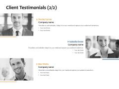 Client Testimonials Planning Ppt PowerPoint Presentation Outline Graphics Design