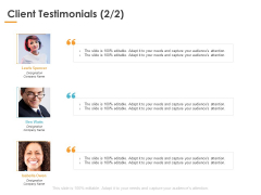 Client Testimonials Planning Ppt PowerPoint Presentation Outline Themes