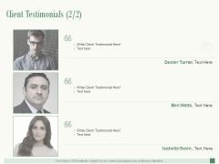 Client Testimonials Planning Ppt PowerPoint Presentation Portfolio Styles