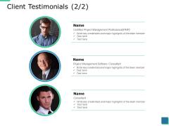 Client Testimonials Planning Ppt PowerPoint Presentation Slides Show