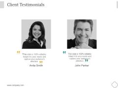 Client Testimonials Ppt PowerPoint Presentation Deck