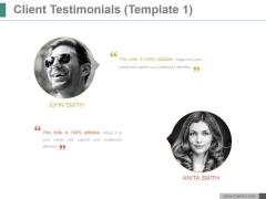 Client Testimonials Ppt PowerPoint Presentation Design Templates