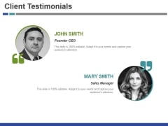 Client Testimonials Ppt PowerPoint Presentation File Visual Aids
