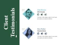 Client Testimonials Ppt PowerPoint Presentation Gallery Gridlines