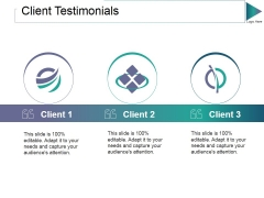 Client Testimonials Ppt PowerPoint Presentation Gallery Inspiration