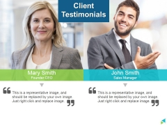 Client Testimonials Ppt PowerPoint Presentation Gallery Introduction