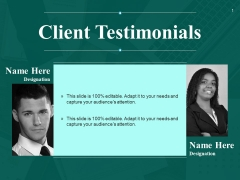 Client Testimonials Ppt PowerPoint Presentation Inspiration Clipart Images