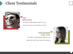 Client Testimonials Ppt PowerPoint Presentation Inspiration Ideas