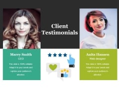 Client Testimonials Ppt PowerPoint Presentation Inspiration Topics