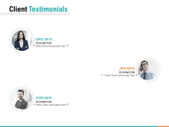 Client Testimonials Ppt PowerPoint Presentation Layouts Themes