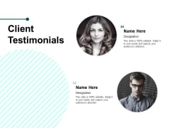 Client Testimonials Ppt PowerPoint Presentation Model Guide