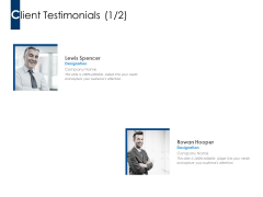 Client Testimonials Ppt PowerPoint Presentation Model Influencers