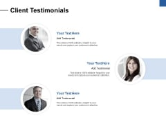 Client Testimonials Ppt PowerPoint Presentation Pictures Elements