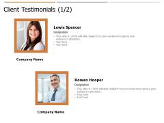 Client Testimonials Ppt PowerPoint Presentation Pictures Gallery