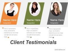 Client Testimonials Ppt PowerPoint Presentation Portfolio Good