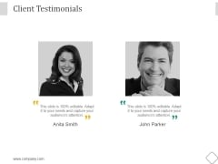 Client Testimonials Ppt PowerPoint Presentation Samples