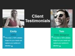 Client Testimonials Ppt PowerPoint Presentation Show Structure