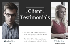 Client Testimonials Ppt PowerPoint Presentation Slides Objects
