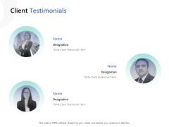Client Testimonials Ppt PowerPoint Presentation Styles Samples