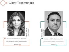Client Testimonials Ppt PowerPoint Presentation Visuals
