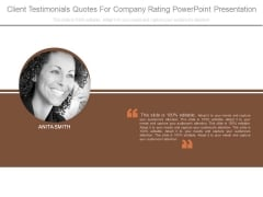 Client Testimonials Quotes For Company Rating Powerpoint Presentation