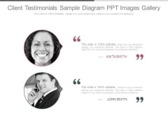 Client Testimonials Sample Diagram Ppt Images Gallery