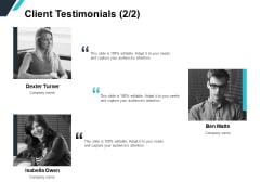 Client Testimonials Team Introduction Ppt PowerPoint Presentation Slides Layouts