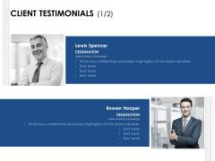Client Testimonials Team Ppt PowerPoint Presentation Gallery Format