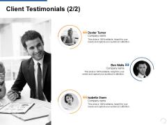 Client Testimonials Teamwork Ppt PowerPoint Presentation Slides Graphics Example